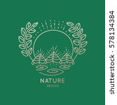 vector logo of nature elements... | Shutterstock .eps vector #578134384