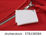 white rectangular tags on a red ... | Shutterstock . vector #578138584