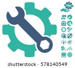 service tools icon with bonus... | Shutterstock .eps vector #578140549