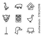 Domestic Icon. Set Of 9...