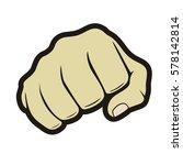 fist  vector image | Shutterstock .eps vector #578142814