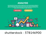 analysis concept for web site.... | Shutterstock .eps vector #578146900