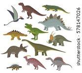 Big Set Of Different Dinosaurs...