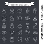 25 wedding line icons  can be... | Shutterstock .eps vector #578148808