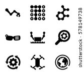 innovation icon. set of 9... | Shutterstock .eps vector #578149738