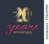20 years anniversary vector... | Shutterstock .eps vector #578149960