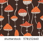 seamless pattern with cute red... | Shutterstock .eps vector #578152660