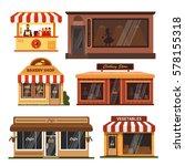 set of store buildings. shops...   Shutterstock . vector #578155318