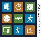 training icon. set of 9... | Shutterstock .eps vector #578155360
