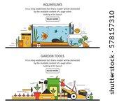 aquarium and garden tools... | Shutterstock . vector #578157310