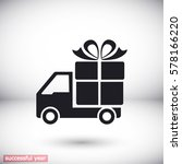 delivery gift . icon. vector ... | Shutterstock .eps vector #578166220