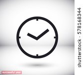 clock icon. vector  eps 10  | Shutterstock .eps vector #578168344