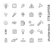 electric accessories icons.... | Shutterstock .eps vector #578169508
