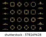 gold vintage decor elements and ... | Shutterstock . vector #578169628