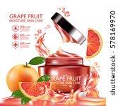grapefruit serum moisture skin...   Shutterstock .eps vector #578169970