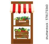 local vegetable stall. fresh... | Shutterstock .eps vector #578173360