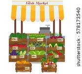 local vegetable stall. fresh... | Shutterstock .eps vector #578173540