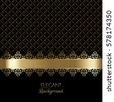 luxurious background in gold... | Shutterstock .eps vector #578174350