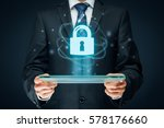 cybersecurity and information... | Shutterstock . vector #578176660