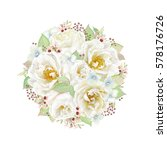 round decoration with white... | Shutterstock .eps vector #578176726