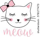 cat graphic   Shutterstock .eps vector #578177473