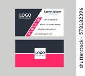 business card vector... | Shutterstock .eps vector #578182396