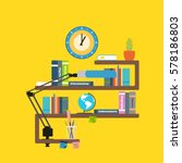 blank of poster back to school... | Shutterstock . vector #578186803