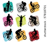 bicycle set | Shutterstock .eps vector #57818701