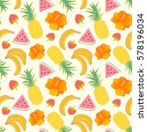 floral seamless pattern with... | Shutterstock .eps vector #578196034