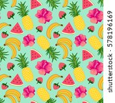 floral seamless pattern with...   Shutterstock .eps vector #578196169