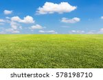green lawn and sky background | Shutterstock . vector #578198710