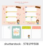 cute weekly planner template.... | Shutterstock .eps vector #578199508