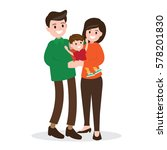 happy family. father   mother... | Shutterstock .eps vector #578201830