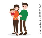 happy family. father   mother... | Shutterstock .eps vector #578201860