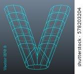 vector letter v stylized... | Shutterstock .eps vector #578203204