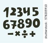 vector set of numbers  white... | Shutterstock .eps vector #578205910