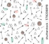linear simple arrows vector...   Shutterstock .eps vector #578208898