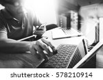 outsource developer working on... | Shutterstock . vector #578210914