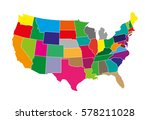 usa flag in different colors | Shutterstock .eps vector #578211028