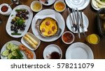 turkish breakfast | Shutterstock . vector #578211079