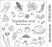 vector hand drawn set of... | Shutterstock .eps vector #578211940
