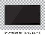 tv  modern blank screen lcd ... | Shutterstock .eps vector #578213746