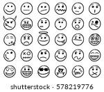 Set Of Smiley Or Emoticon Icon...