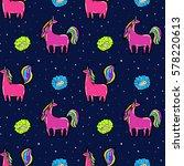 bright unicorns pattern | Shutterstock .eps vector #578220613