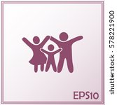 happy family icon in simple... | Shutterstock .eps vector #578221900