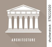 architecture greek temple icon...