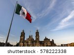 mexico flag in the wind the... | Shutterstock . vector #578222338