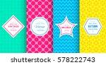 cute bright seamless pattern... | Shutterstock .eps vector #578222743