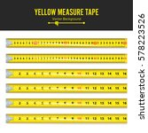 yellow measure tape vector.... | Shutterstock .eps vector #578223526