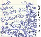 hand drawn back to school... | Shutterstock .eps vector #57822412